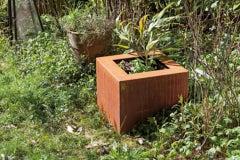 "German Steel Planter - ""Square"" - outdoor ornament"