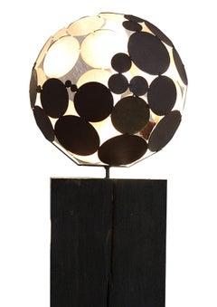"""Indoor Lamp - """"dark"""" on iron oxide oak stand"""