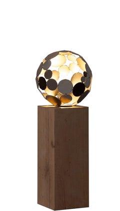 "Indoor Lamp - ""Globe"" - unique handmade contemporary sculpture - Tall Height"