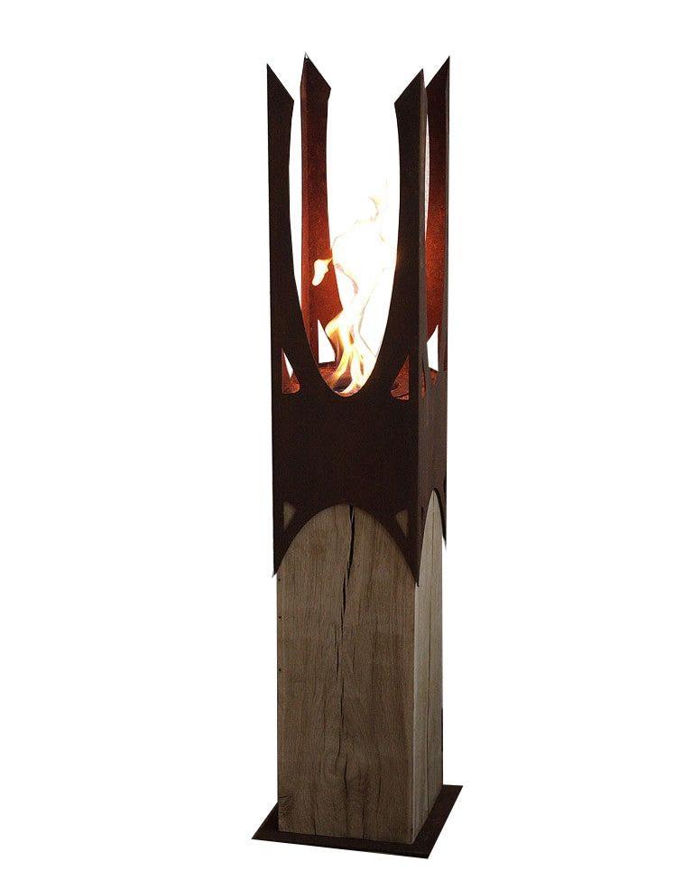"""Oak Column & Garden Torch - """"Nature Crown"""" - handmade art object"""