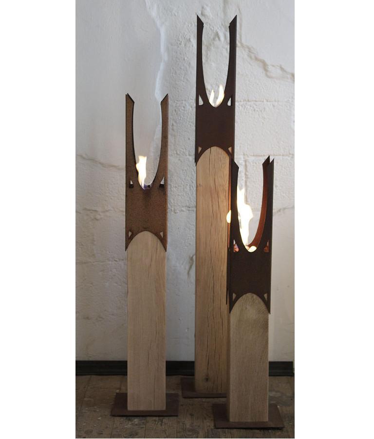 Oak Column & Garden Torch -