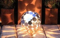 "Outdoor Lamp - ""Globe"" galvanised - art garden decoration - 40cm"