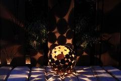 "Outdoor Lamp - ""Globe"" iron oxide - garden decoration - 55cm"