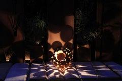 "Outdoor Lamp - ""Globe"" iron oxide - outdoor ornament - 40cm"