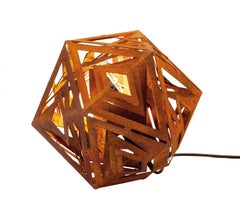 """Outdoor Lamp - """"Ikosaeder"""" - contemporary indoor and garden ornament - Tall"""