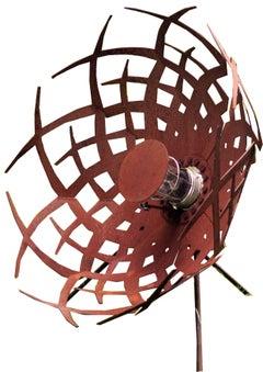 "Outdoor Lamp - ""Umbrella"" (Alpha) - Rusty - art garden decoration - 70cm"