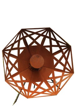 "Outdoor Lamp - ""Umbrella"" (Beta) - Rusty - ART - garden decoration - 70cm"