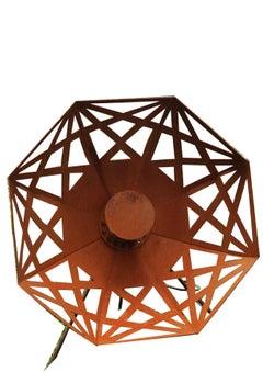"Outdoor Lamp - ""Umbrella"" (Beta) - Rusty - art garden decoration - 70cm"