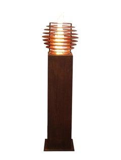 """Steel Column and Garden Torch """"Ball"""" - Handmade - Garden Ornament"""