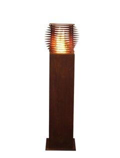 """Steel Column and Garden Torch """"Cube"""" - Handmade"""
