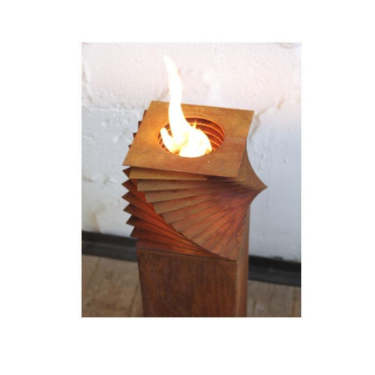 Steel Column and Garden Torch -