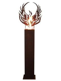 "Steel Column and Garden Torch ""Phoenix"" - Handmade - unique art object"