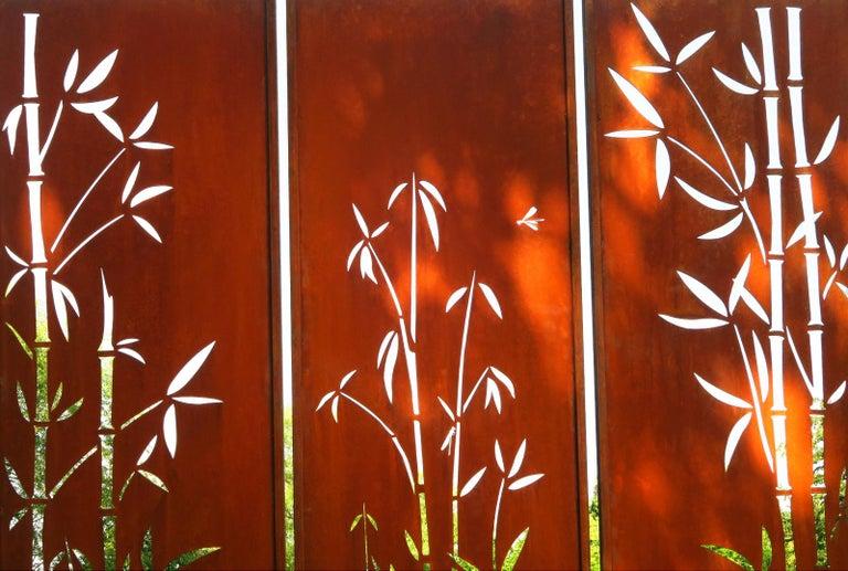 Steel Garden Wall -