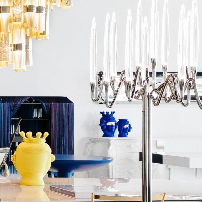 Modern Stefania Boemi Terracotta Vase, Donna Yves Klein Blue, Made in Italy For Sale