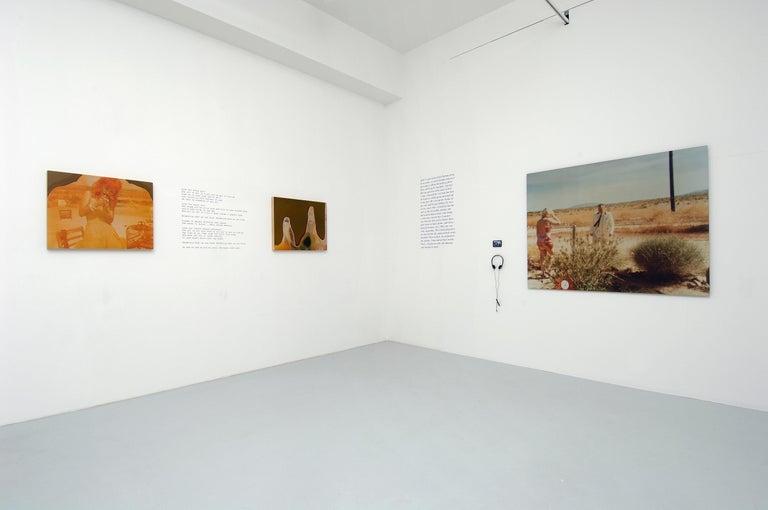 Wonder Valley (29 Palms, CA) - analog, mounted, installation, music, video, text - Contemporary Photograph by Stefanie Schneider