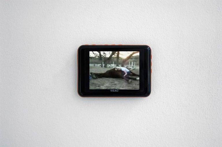 Wonder Valley (29 Palms, CA) - analog, mounted, installation, music, video, text - Brown Landscape Photograph by Stefanie Schneider