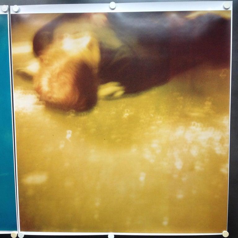 Accident I (Stay) analog, 128x125cm, starring Ryan Gosling - Polaroid, Color - Photograph by Stefanie Schneider
