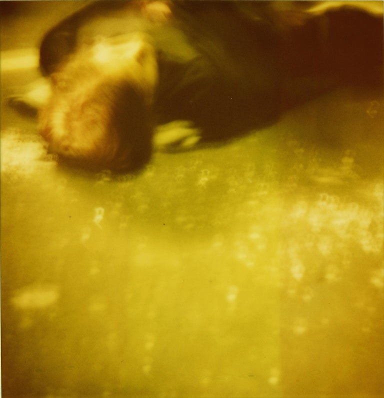 Stefanie Schneider Color Photograph - Accident I (Stay) analog, 128x125cm, starring Ryan Gosling - Polaroid, Color