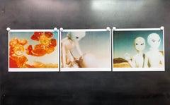 Aliens - triptych, analog hand-prints - Polaroid, Contemporary, Pop-Art, Color