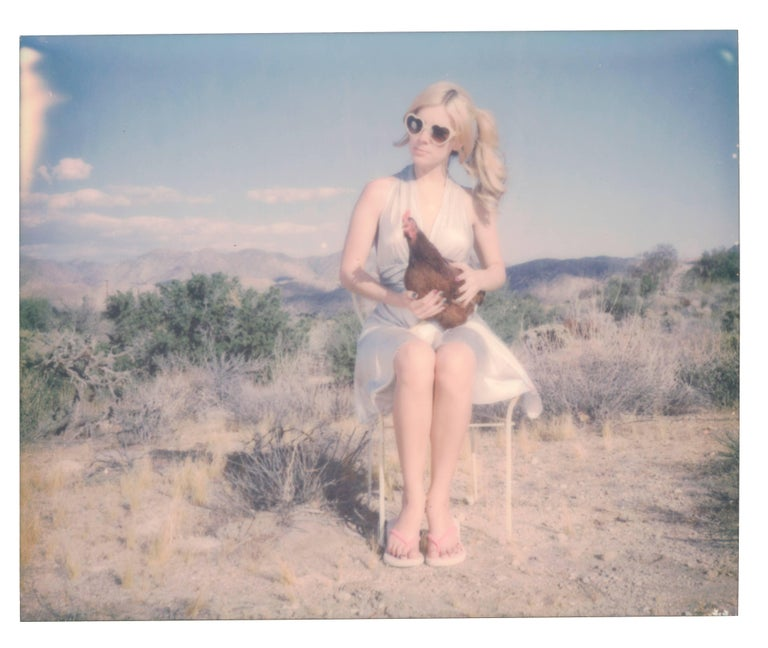 Stefanie Schneider Color Photograph - Angel and Charlie Brown - Contemporary, Polaroid, 21st Century, Color, Chicken