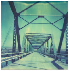Blue Bridge - Contemporary, Landscape, USA, Polaroid, Land, Color, Photograph