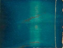 Blue (Deconstructivism) - Contemporary, Expired Polaroid