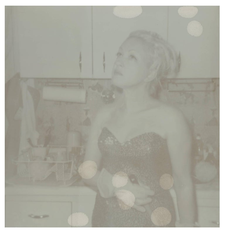 Stefanie Schneider Black and White Photograph - Bubble Dreams Bursting (Cyndi Lauper) - record cover shoot, Artist Proof 1/2