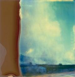 Burning Field (Stranger than Paradise) analog, mounted - Polaroid, Contemporary