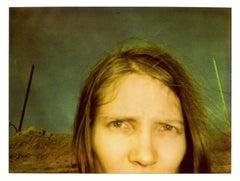 California Blue Screen - Polaroid, Contemporary, Women, Self-Portrait, Color