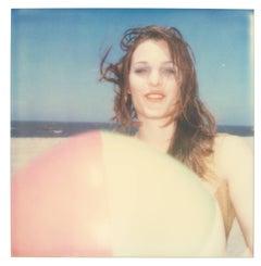 Camille with Beach Ball - Original Polaroid Unique Piece