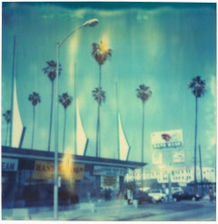 Car Wash (analog) 58x56cm - Edition 1/10, mounted - Polaroid, 20th Century, Blue