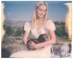 Chicken Madonna (Chicks and Chicks...) expired, Polaroid, mounted