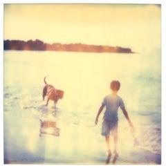 Childhood Memories - 21st Century, Polaroid, Beach, Ocean, Dog, Contempoary