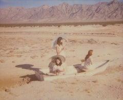 Dream Scene on Salt Lake - Contemporary, 21st Century, Polaroid, Figurative
