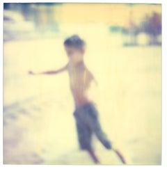 Flying Boy - Figurative, expired, Polaroid, analog, Schneider, 21st Century
