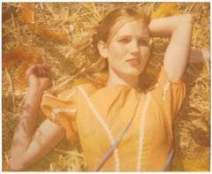 Contemporary, Figurative, expired, Polaroid, analog Schneider 21st Century, girl