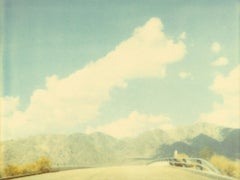 Mountain Range -Contemporary, Landscape, expired, Polaroid, analog, 20th Century