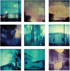 Dusk - Contemporary, Abstract, Landscape, Boat, beach, Polaroid, expired