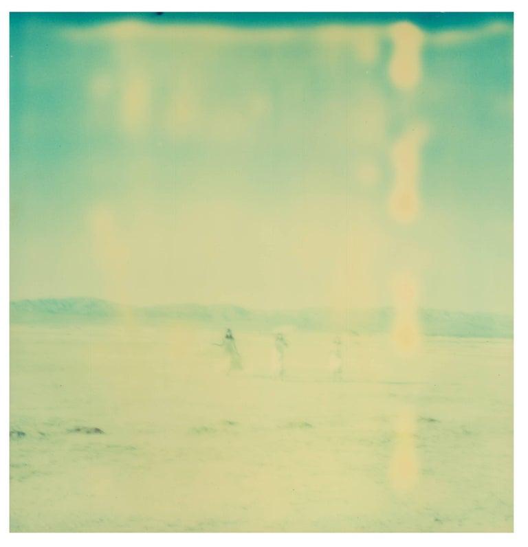 Enchanted (Dream Scene on Salt Lake), triptych - Photograph by Stefanie Schneider