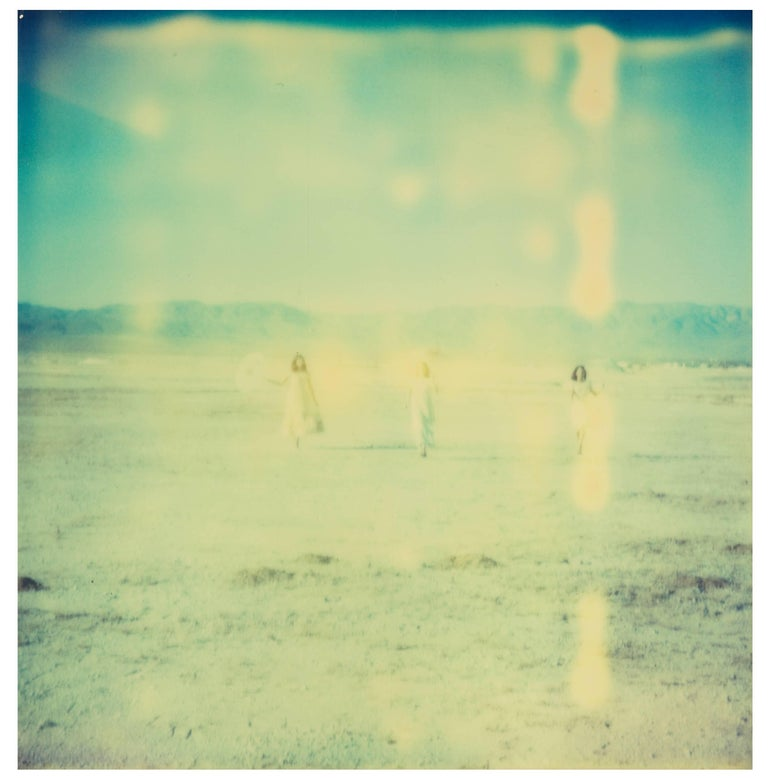 Enchanted (Dream Scene on Salt Lake), triptych - Contemporary Photograph by Stefanie Schneider