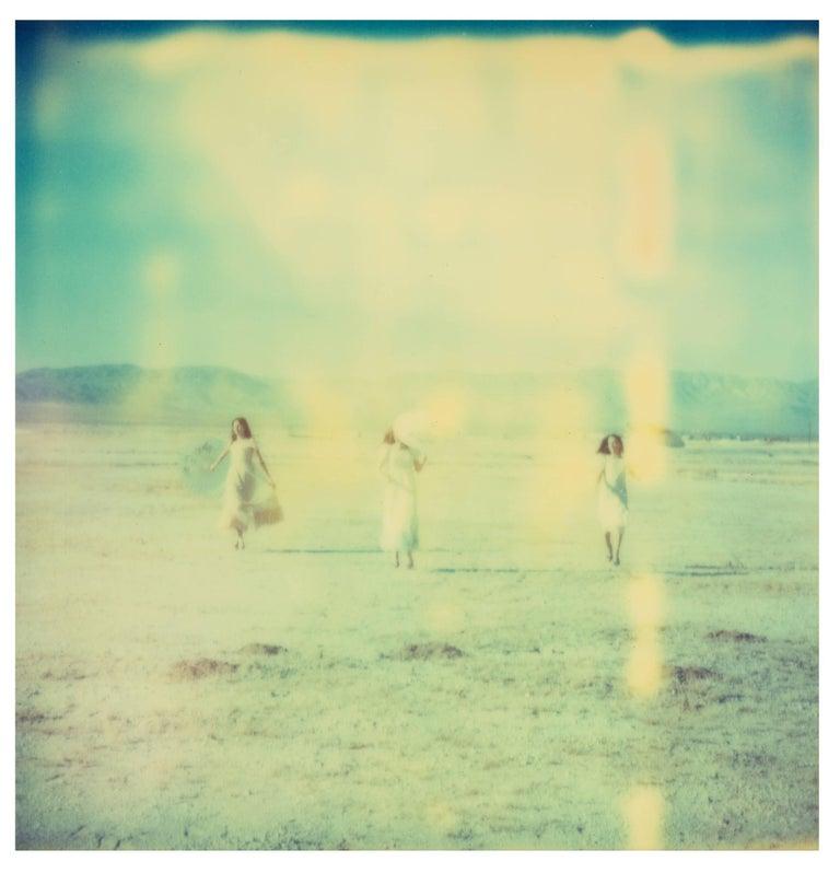 Enchanted (Dream Scene on Salt Lake), triptych - Green Landscape Photograph by Stefanie Schneider