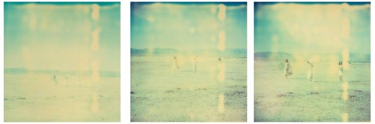 Stefanie Schneider Landscape Photograph - Enchanted (Dream Scene on Salt Lake), triptych