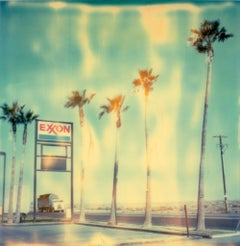 Exxon - Contemporary, Landscape, USA, Polaroid, Land, Color, photograph
