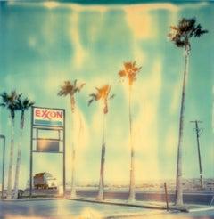 Exxon - Contemporary, Landscape, USA, Polaroid, Land, Color, photograph