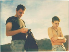 Felix and Dominique (California Blue Screen) - analog, mounted