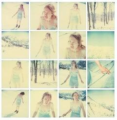 Frozen (16 pieces) Contemporary, Landscape, USA, Polaroid, Figurative, Ice, Snow