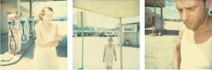 Gasstation (triptych) - analog, Polaroid, Contemporary, 21st Century, Color