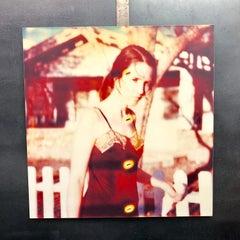 Girl at fence - Contemporary, 21st Century, Polaroid, Figurative