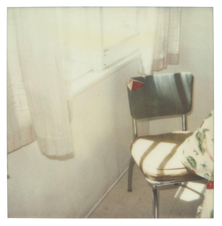 Stefanie Schneider Color Photograph - Green Chair (29 Palms, CA) - Polaroid, Contemporary, 21st Century, Color, Photo