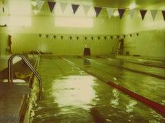 Green Pool II (Suburbia) - Contemporary, Polaroid, Analog, Portrait
